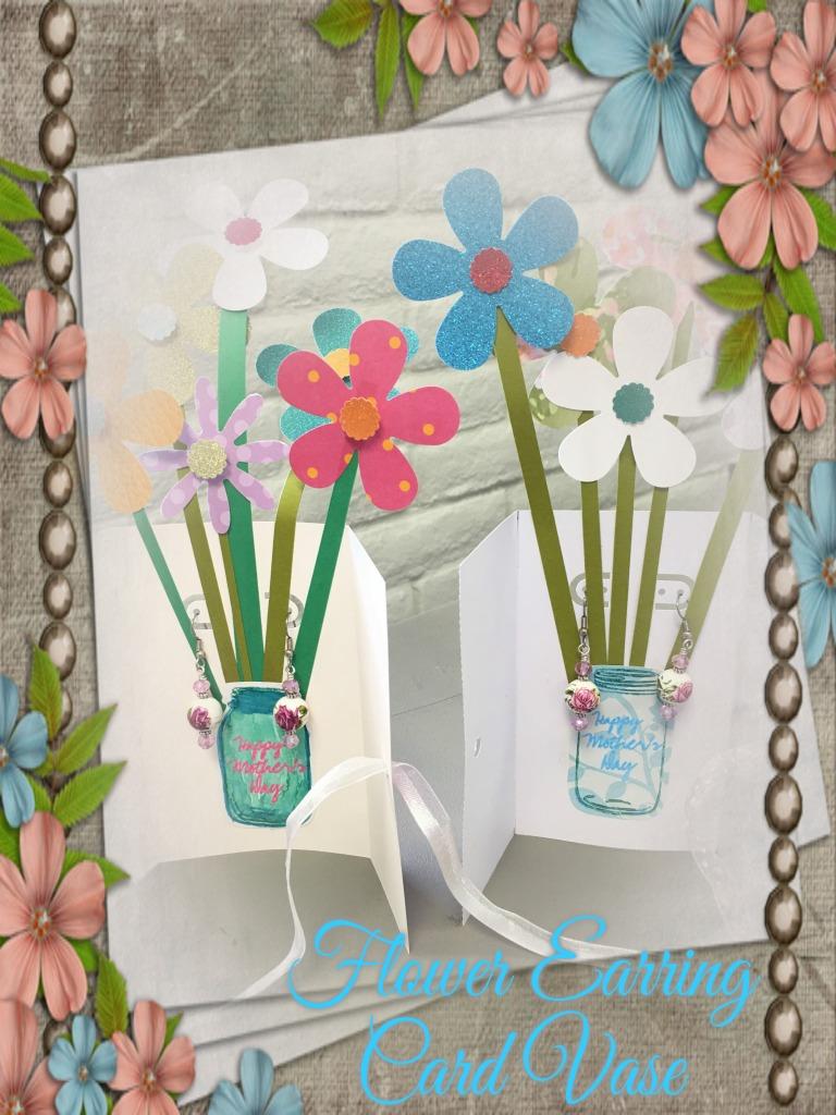Card Due Floral Frame Labelled