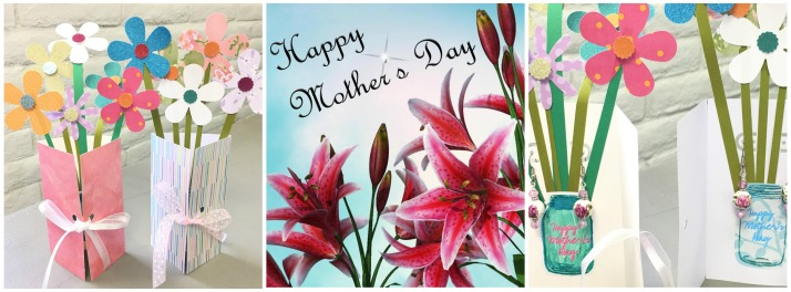 Mother's Day Collage Earrings Flowers